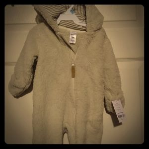 NWT Carter's furry Sherpa snuggy/ bodysuit